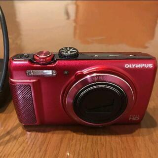 【美品】OLYMPUS デジタルカメラ SH-21 レッド 16...