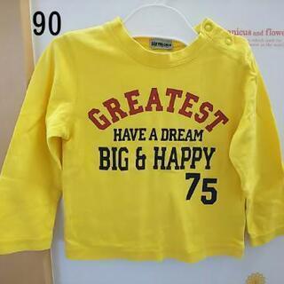 黄英字 長Tシャツ 裏もかっこいい 90サイズ☆