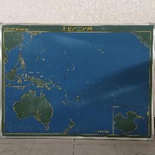 地図 黒板 オセアニア