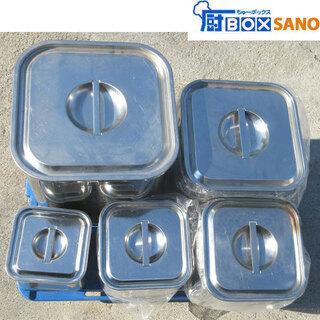 ステンレス 角 ポット 5個セット 厨房 飲食店 調理道具 容器...