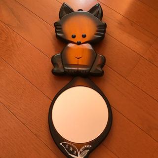 北海道 キツネの壁掛鏡