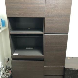 PCデスク付収納棚、TVボード、収納棚