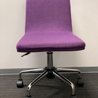 おしゃれオフィスチェア☆椅子4脚 パープル オフィス、勉強にも!