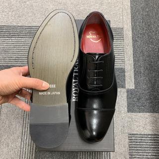 【新品】日本製RT-31BL/26.5cm本革ストレートチップビジネスシューズ - 靴/バッグ