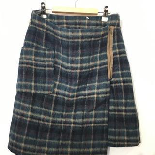 Partisan ウールチェック柄スカート#Cattleya