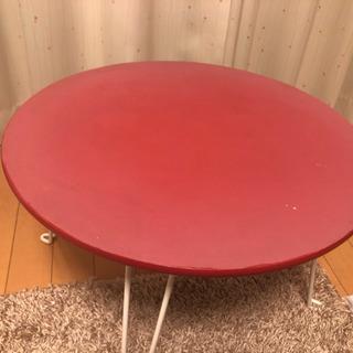 折りたたみ式  円型テーブル
