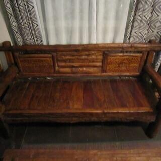 アジアン家具 手作りテーブルセット 1点物
