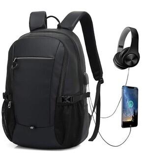 バックパック ビジネスリュック USB充電ポートとヘッドホンジャック付きの画像