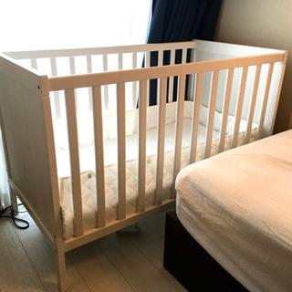 ★IKEA ベビーベッド★マットレス・各種寝具付き