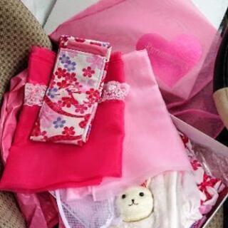 瑠璃雛菊 七五三 7歳 女の子用 着物ドレス