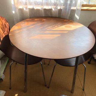 【お話し中】丸テーブル&イス2脚