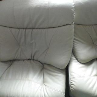 一人用回転レザー製のソファー「委託販売品」
