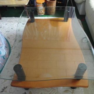 湾曲した「センターテーブル」(委託販売品) - 家具