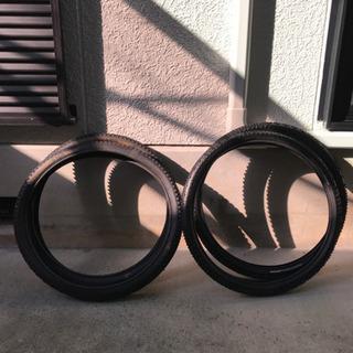 マウンテンバイクのタイヤ 24インチ×2セット