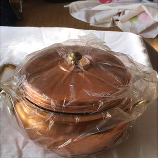 未使用の銅鍋