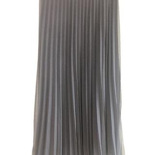 【取引完了】UNIQLO シフォンプリーツスカート ネイビー Lサイズ