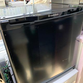 エスキュービズム WR-1046BK 1ドア冷蔵庫 46L…