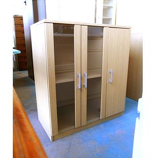 札幌【3枚扉 ミドルサイズ 食器棚】幅79.5cm 組立て済み ...