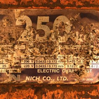 125 ホイスト ニッチ 250kg