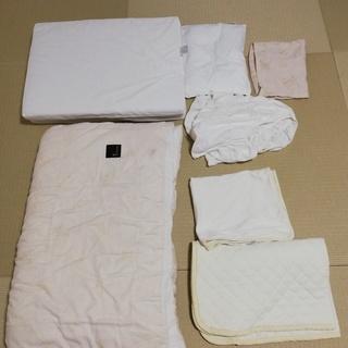 ◆HushkuDe ベビー用寝具セット ※汚れあり、一部別メーカ...