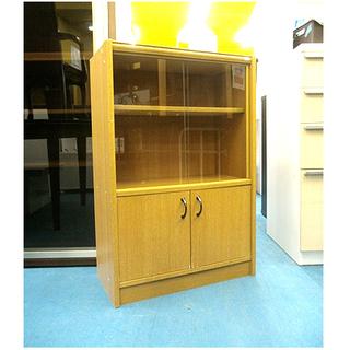 札幌【ミニ食器棚②】幅59cm 組立て済み ナチュラルカラー う...