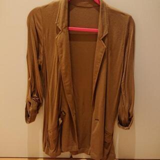 キャメル 羽織り ジャケット