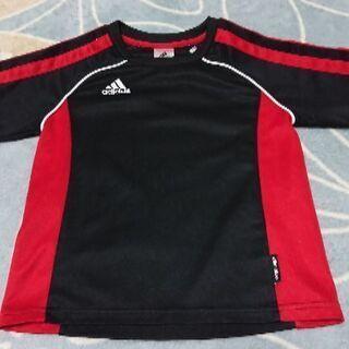 【男の子 130cm】adidas赤黒スポーツ用上着