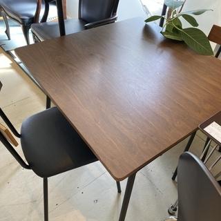 ニトリ ダイニングテーブル3点セット テーブル チェア 茶…