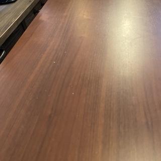 センターテーブル リビングテーブル 茶 木製 中古品 - 家具