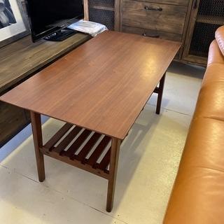 センターテーブル リビングテーブル 茶 木製 中古品の画像