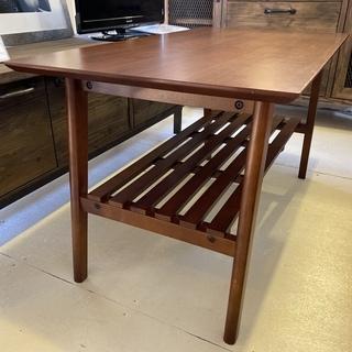 センターテーブル リビングテーブル 茶 木製 中古品 - 宇都宮市