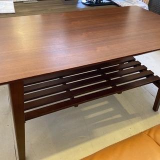 センターテーブル リビングテーブル 茶 木製 中古品 − 栃木県