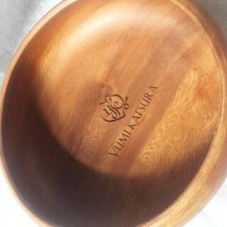 値下げ【未使用品】桂由美ナチュラルコレクションNo.5木製ボウル...