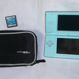 任天堂 DS Lite アクアブルー本体+専用ケース+カセット