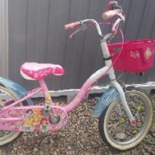 子供用自転車 16インチ プリンセス 女の子 ラプンツェル シン...