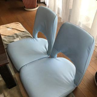 リクライニング座椅子 二脚