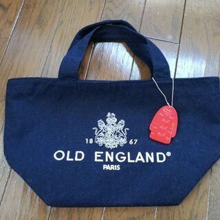 オールドイングランド ロゴ刺繍入りトート 黒