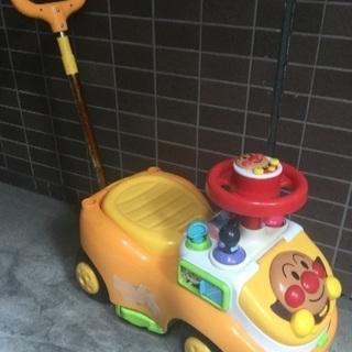 アンパンマン手押し付き車 仕掛け付き 訳あり