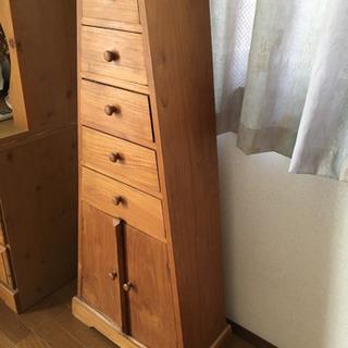 木製タワー型 収納チェスト