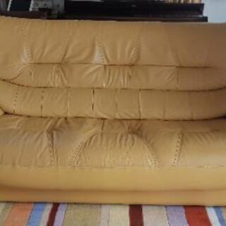 3人掛ソファー黄色