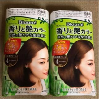 【値下げ】ブローネ 香りと艶カラー 4  ライトブラウン 80g×2