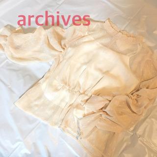 archives ドット透けブラウス