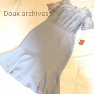 Doux archives ドレスワンピース(サックス)
