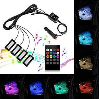 【新品未使用】車 LED RGB テープライト 車 ドレス…