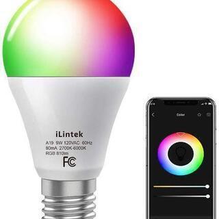 【新品未使用】スマートLED電球 調光調色 810lm RGB ...