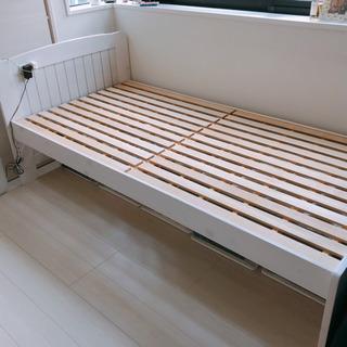 コンセント付 シングルすのこベッド
