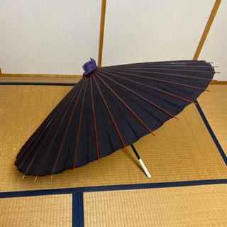 番傘 蛇の目傘 和傘 青