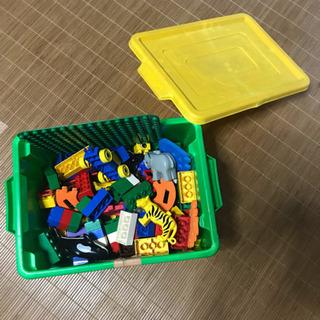 14日までの限定品!LEGOブロック 緑・青・赤 のバケツ…