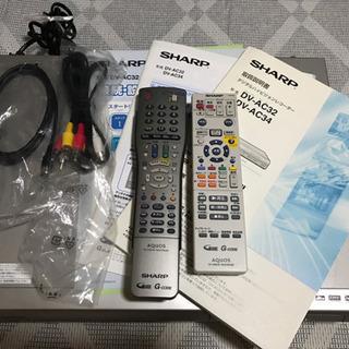 シャープ製 DVDレコーダー【取引完了】