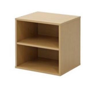 (買い間違え)新品 キューブボックス 棚付 ナチュラル - 吉川市